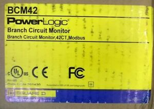 Square D Power Logic Bcm42 Branch Circuit Monitor 42ct Modbus 50a New