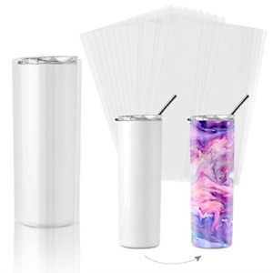 Sublimation Shrink Wrap Sleeves 8x12 Inch Clear Sublimation Heat Transfer Shrink