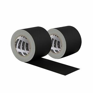 New 4 Inch Black Gaffers Tape 2 Pack 30 Yards Per Roll Wide Gaff Tape