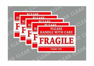 2 X 3 Fragile Stickers Handle With Care Thank You 100 Stickers sheet
