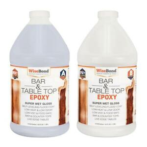1 Gal Clear Bar And Table Top Wood And Concrete 1 1 Ratio Counter Top Epoxy