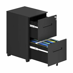 Yitahome 2 drawer Mobile File Cabinet With Lock Office Storage Filing Cabine