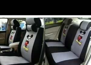 Disney Mickey Mouse Universal Front Back Covers Front Headrests Grey Black