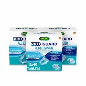 Polident Proguard Retainer Cleaning Tablets Mouth Guard Cleaner And Retainer