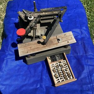New Hermes Engravograph Engraving Machine With Brass Characters Parts Repair