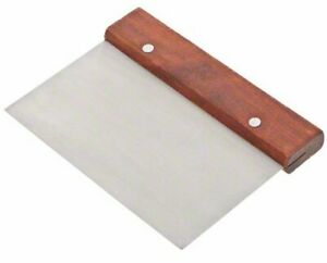 Update International Wds 36 Stainless Steel Dough Scraper With Wood Handle 6 i