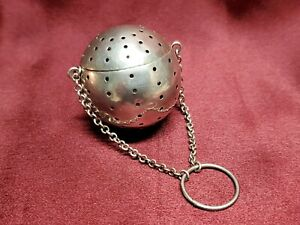 Antique Sterling Tea Ball Infuser With Chain By R Blackinton