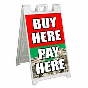 Buy Here Pay Here Signicade 24x36 A Frame Sidewalk Sign Double Sided