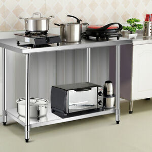Ironmax 30 x48 Durable Stainless Steel Food Prep Work Table Home Kitchen Silver