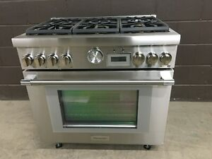 Thermador 36 Pro grand Prg366wg Gas Range 6 Burners Stainless
