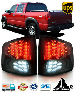 For 1994 2004 Chevy S10 Pickup Gmc Sonoma Led Tail Lights Rear Lamp Chrome Smoke Fits Gmc Sonoma