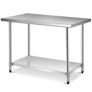 Gymax 30 X 48 Stainless Steel Food Prep Work Table Commercial Kitchen