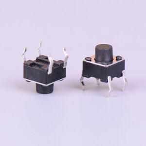 50pcs Micro Switch 6 6 6mm 4pin Momentary Tactile Push Button Cap1