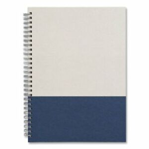 Tru Red Wirebound Hardcover Notebook 1 Subject Narrow Rule Gray blue Cover