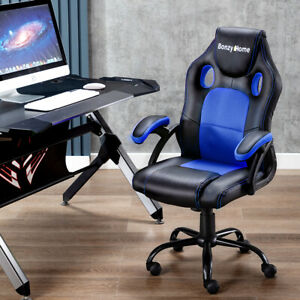 Office Chair Executive Racing Gaming Swivel Pu Leather Sport Computer Desk Seat