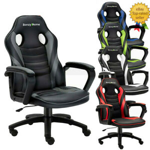 Racing Gaming Office Chair Pu Leather Swivel Adjustable Computer Chair Executive