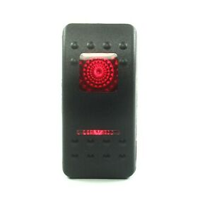 1pc Carling Rocker Switch Spdt Red Illuminated 20a 12vdc On off on 4pins 24vdc