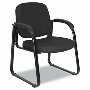 Alera Reception Lounge Series Sled Base Guest Chair Black Fabric alerl43c11