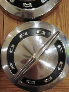 60s Ford Vintage Car Truck Stainless Steel Hubcaps Wheel Covers