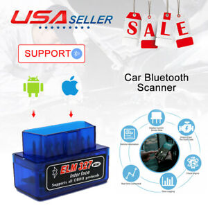 Obd2 Bluetooth Car Diagnostic Code Reader Elm327 Scan Tool For Iphone Android