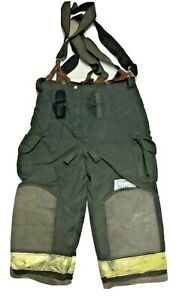36x25 36s Janesville Lion Black Firefighter Turnout Pants With Suspenders P1280