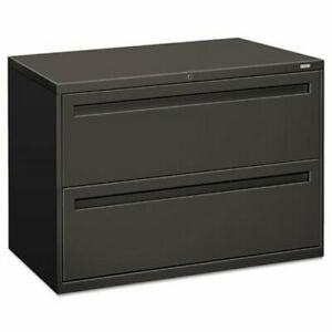 Hon 700 Series 2 drawer Lateral File 42w X 19 1 4d Charcoal hon792ls