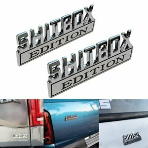 2x Shitbox Edition Emblem Decal Badge Stickers For Gmc Chevy Car Truck 3d Cool