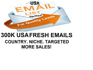 Email List 300k New Verified Usa Leads For Niche Email Marketing Campaign