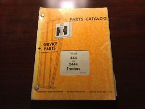 International 444 And 2444 Tractor Parts Catalog