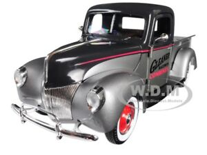 1940 Ford gleaner Pickup Truck Silver Black 1 25 Diecast By Speccast 64131