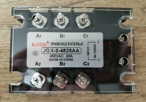 Three Phase Solid State Relay Jgx 3 4825aa 480 Vac 25a