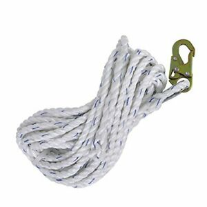 Peakworks Fall Protection Safety Lifeline Rope Grab Xl 200 Ft Vertical Cable