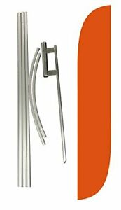 Lookourway Complete Set Feather Flag With Pole And Ground Spike Orange