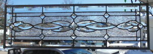 Stained Glass Transom Window Hanging 32 X 10 1 2 Incl Hooks