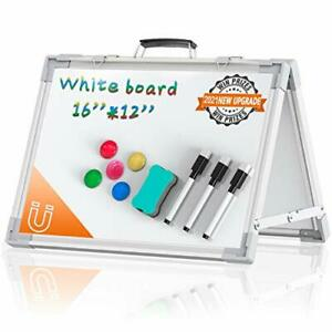 Small Whiteboard Dry Erase Boards Portable White Board Double Sided Magnetic