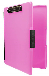 Dexas 3517 806 Slimcase 2 Storage Clipboard With Side Opening Neon Pink