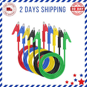 Dual Ended Crocodile Alligator Clips 5 Pcs15a Test Lead Wire Cable New