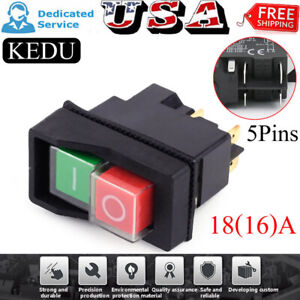 Waterproof Push Button Electromagnetic Switch 5 Pins Ac250v 16a Magnetic Starter