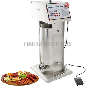 Hakka Commercial 12l 25lb Stainless Steel Electric Sausage Stuffer Double Speed