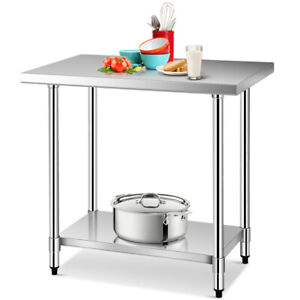 Gymax 24 X 36 Stainless Steel Food Prep Work Table Commercial Kitchen