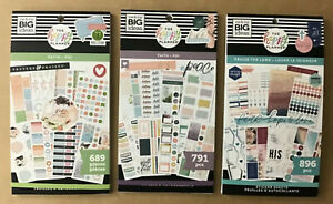 Set Of 3 The Happy Planner Happy Faith Themed Sticker Books Set 3 All New