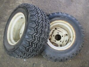 Ford Lgt 145 165 125 Tractor Open Side Firestone 23x8 50 12 Rear Tires Rims