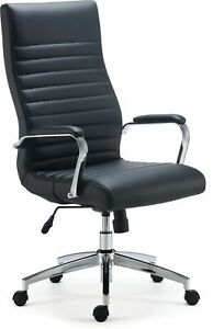 Myofficeinnovations Bonded Leather Managers Chair Black 53234 24328572