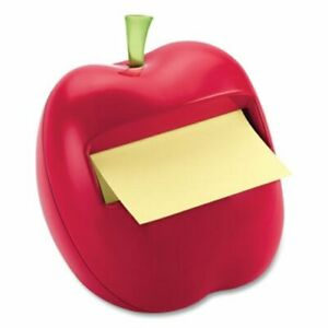 Post it Pop up Notes Apple shaped Dispenser For 3 X 3 Pads Each mmm922552