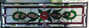 Stained Glass Transom Window Hanging 29 X 9 1 4 Incl Hooks