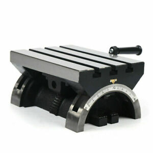 New 10 45 Angle Plates Tilting Mill Table Both Sides Adjustable Workbench Tool