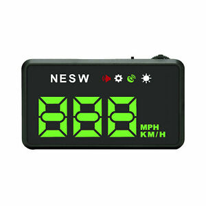Universal Hud Head Up Display Digital Speedometer With Mph For Cars C2w4