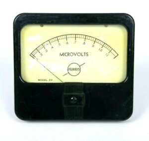 Ferris Microvolts Model 29 Panel Meter 0 1 1 1