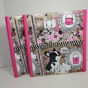 Staples Set Of 2 Two Better Binder 1 Inch D ring Binders Pink Terrier New