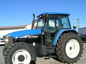 New Holland Ford Tm130 Farm Tractor 4x4 Cab 2100 Hours Per Def No Electricly